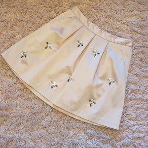 Womens Jewel Embellished Skirt